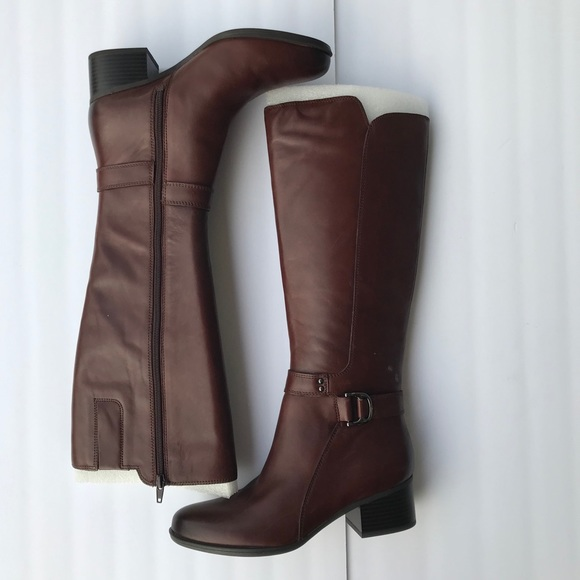 Brown Naturalizer Tall Riding Leather Boots